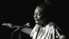 In this June 27, 1985, file photo, Nina Simone performs at Avery Fisher Hall in New York. (AP Photo/Rene Perez, File)