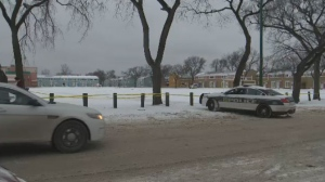 The Winnipeg School Division said staff directed students coming to school through another entrance away from the investigation.