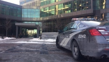 Police say a four-month-old girl, a man and a woman are in serious condition following a stabbing in west Toronto. Toronto police say the incident took place at least in part in the lobby of a residential building shown here on Wednesday Dec. 13, 2017 and that residents of the building were involved. THE CANADIAN PRESS/Peter Goffin