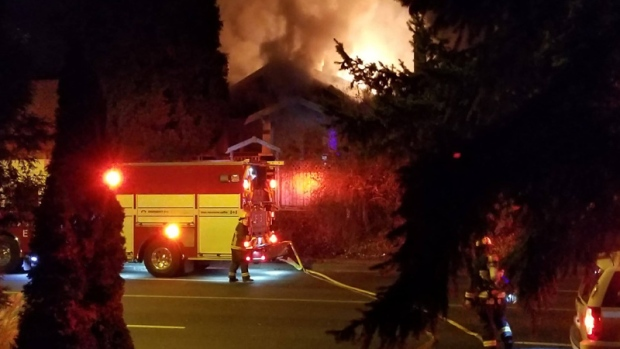 A tenant was able to escape without injury but the dog did not survive the fire in East Vancouver. (Mike Parmentier / submitted)