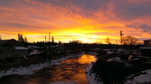 Tanner's Crossing in Minnedosa at sunset. Photo by Kay Mowbray.