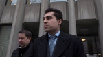 Mustafa Ururyar leaves a Toronto Court on Tuesday, March 14, 2017. A judge who referenced research on gendered violence in convicting Uruyar of sexual assault appeared to be biased against him, the man's lawyers alleged Tuesday at his appeal hearing. THE CANADIAN PRESS/Chris Young