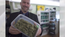 Dana Larsen is pictured at The Dispensary in Vancouver, Wednesday, Feb. 5, 2015. THE CANADIAN PRESS/Jonathan Hayward