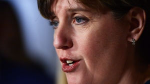 International Development Minister Marie-Claude Bibeau holds a media availability on Parliament Hill in Ottawa on Wednesday Dec. 13, 2017, to report on the Myanmar Crisis Relief Fund. THE CANADIAN PRESS/Sean Kilpatrick