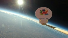 A weather balloon, launched by Don Hladiuk and his family on Saturday, reached an altitude of 28,000 metres.