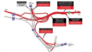 Much of the Turcot Interchange and Route 136 in both directions will be closed this weekend. Closures will be needed most weekends until June 2018.