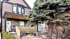 A Toronto house once rented by actor Meghan Markle is shown in a handout photo. (THE CANADIAN PRESS/HO-Freeman Real Estate Ltd.)