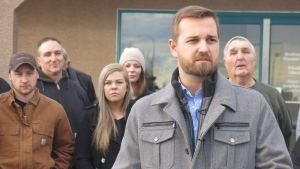 Derek Fildebrandt is shown in Strathmore, Alta., Monday, Jan.26, 2015. An Alberta legislature member already dealing with charges of hit and run is now facing more court action for illegally shooting a deer. (THE CANADIAN PRESS / Bill Graveland)