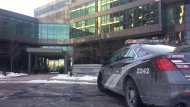 Police say a four-month-old girl, a man and a woman are in serious condition following a stabbing in west Toronto. THE CANADIAN PRESS/Peter Goffin