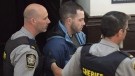 Christopher Calvin Garnier arrives at provincial court in Halifax on Thursday, Sept. 17, 2015. Garnier has taken the stand at his trial in the death of off-duty police officer Catherine Campbell. THE CANADIAN PRESS/Andrew Vaughan