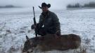MLA Derek Fildebrandt poses with a deer in a 2016 photo (Facebook)
