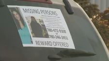 The family of missing woman Nadia Atwi printed off window decals in an effort to generate tips leading to her safe return.