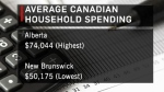 Alberta household spending