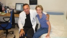 "Michelle Walsh, right, poses for a photo with a doctor in California in 2011 at her second ""liberation treatment."" (Michelle Walsh)"