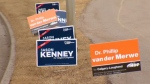 Calgary-Lougheed byelection signs