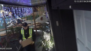 A man was caught on camera grabbing a UPS package from the front entrance of a Richmond, B.C. home this week.