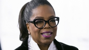 Oprah Winfrey arrives for the David Foster Foundation 30th Anniversary Miracle Gala and Concert, in Vancouver, British Columbia on Oct. 21, 2017. (Darryl Dyck/THE CANADIAN PRESS)