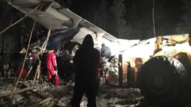 Plane with 25 on board crashes in northern Saskatchewan