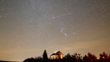 The Geminids meteor shower lit up the sky on Dec. 13, 2017.