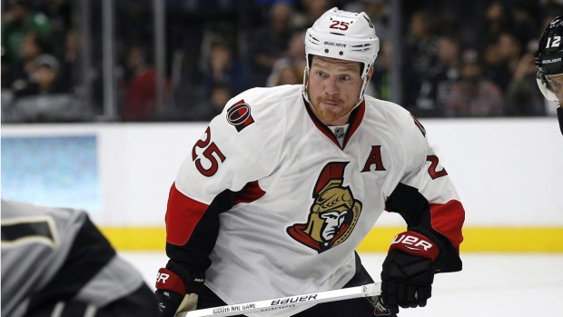 Ottawa Senators right wing Chris Neil