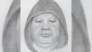 A man who allegedly propositioned a young girl for sex in East Vancouver is seen in this composite sketch provided by the Vancouver Police Department.