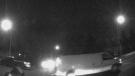 EPS released a still showing the suspect vehicle in a hit and run that left two pedestrians injured late Wednesday, December 13, 2017. Supplied.