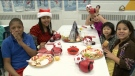 Special Christmas meal at St. Elizabeth School