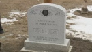 A memorial for people who died from the Spanish flu in Regina is unveiled on Dec. 14, 2017