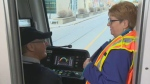 Holly McConnell broadcast live on her last day at Calgary Transit.