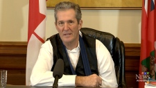 Pallister address controversial heels remarks