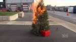 Demo highlights fire risks during the holidays