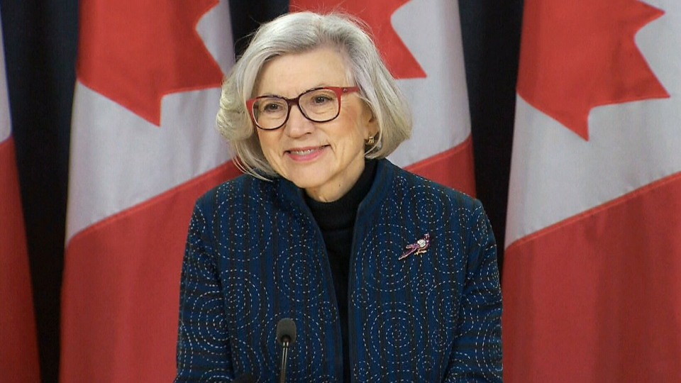 Beverley McLachlin talks to reporters in Ottawa, on Dec. 15, 2017.