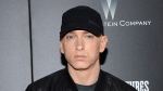 "In this July 20, 2015, file photo, Rapper Eminem attends the premiere of ""Southpaw"" in New York. In a tweet Thursday, Dec. 14, 2017. (Evan Agostini/Invision/AP, File)"
