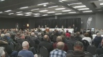 Sask. Party leadership candidates speak at a panel in Yorkton on Dec. 14, 2017