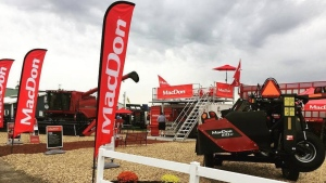 Manufacturer Linamar Corp. (TSX:LNR) says it has reached an agreement to buy Winnipeg-based agriculture equipment maker MacDon Industries Ltd. for $1.2 billion. (MacDon Industries/Twitter)