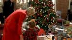 Santa visits Ronald McDonald House