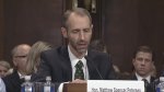 Matthew Spencer Petersen struggling to answer basic legal questions during a recent meeting. A video of the encounter has been watched more than three million times. (Sen. Sheldon Whitehouse/Twitter)
