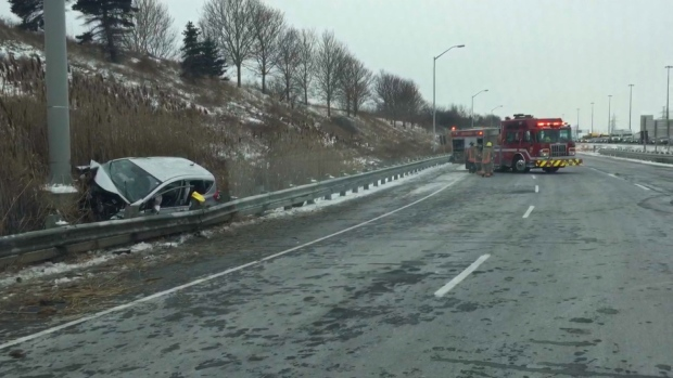 Year-old boy dies in hospital after Highway 403 crash
