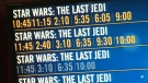 The Last Jedi has about 130 showings in Calgary on Friday, December 15, 2017.
