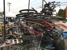 Bikes at tent city
