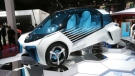 A Toyota FGV Plus concept car on display at the Paris Motor Show in Paris, France on Thursday, Sept. 29, 2016. (AP / Michel Euler)