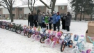Some of the bikes donated through the Dominion Lending Centres Bikes for Kids program are seen here.