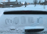 Racial slur left in snow on London family vehicle
