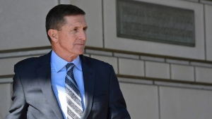 In this Dec. 1, 2017 photo, former Trump national security adviser Michael Flynn leaves federal court in Washington. (AP Photo / Susan Walsh)