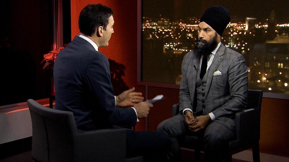 NDP Leader Jagmeet Singh speaks with CTV Question Period's Evan Solomon.