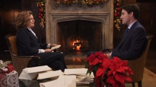 CTV's Lisa LaFlamme sat down with Prime Minister Justin Trudeau in a wide-ranging interview to air December 29. (CTV)