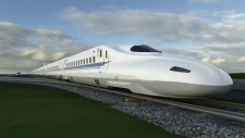A high-speed rail train