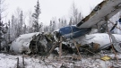 Plane crash's wreckage path at least 800 feet