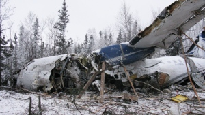 Plane crash's wreckage path at least 800 feet