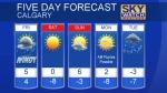 Calgary forecast Dec 15, 2017
